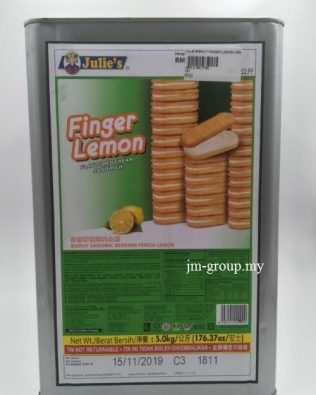 JULIES BISCUIT FINGER LEMON CREAM 5KG