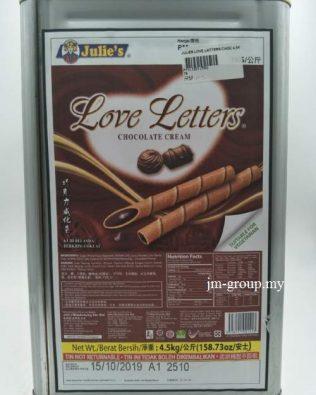 JULIES BISCUIT LOVE LETTER CHOCO 4.5KG