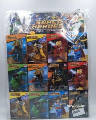 SUPER HEROES BRICK 12PCS