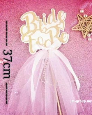 CAKE TOPPER BRIDE TO BE VEIL