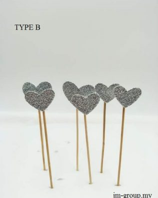 CAKE TOPPER STAR / HEART