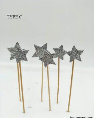 CAKE TOPPER STAR / HEART