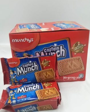 MUNCHY'S CAPTAIN MUNCH BISCUIT 70GM X12
