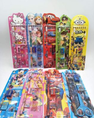 CARTOON STATIONERY 12PCS