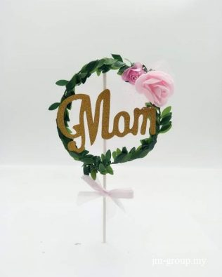 FANCY GOLD DUST CAKE TOPPER (MOM)