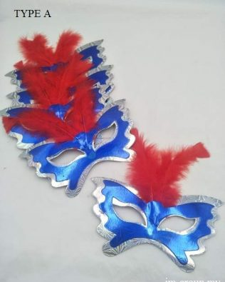 FEATHER MASK 6PCS