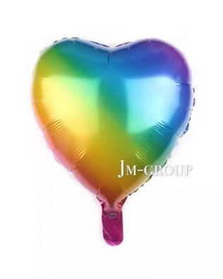 18 INCHI RAINBOW COLOUR FOIL BALLON