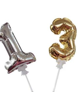 FOIL BALLOON NUMBER 7 INCH CAKE TOPPER