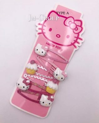 HELLO KITTY HAIR CLIP/ HAIR BAND  6PCS