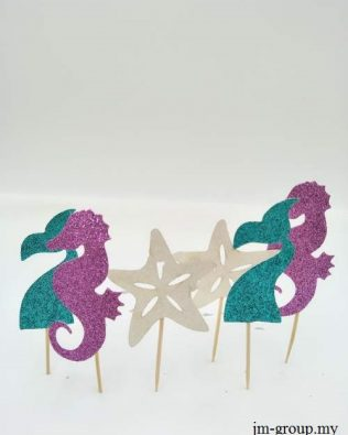 MERMAID CAKE TOPPER 6PCS