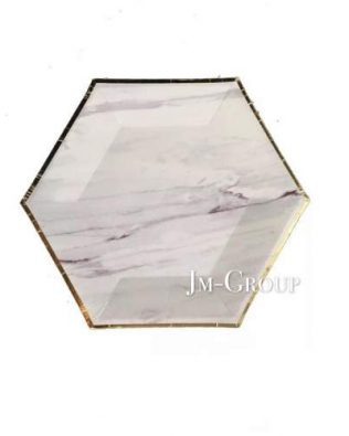 PAPER PLATE MARBLE 8PCS