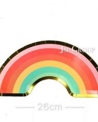 PAPER PLATE RAINBOW 8PCS
