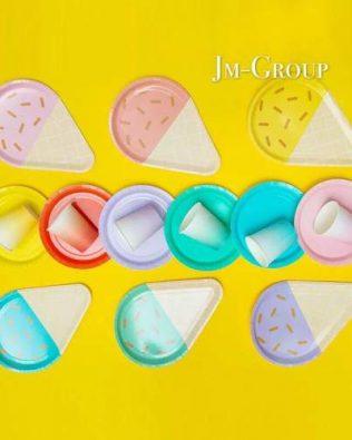PAPER PLATE ICE CREAM SHAPE 8PCS