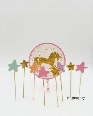 UNICORN GLITTER CAKE TOPPER