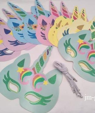 UNICORN MASK 12PCS
