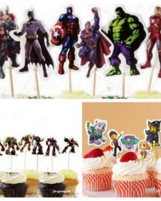 CARTOON CAKE TOPPER 24 PCS