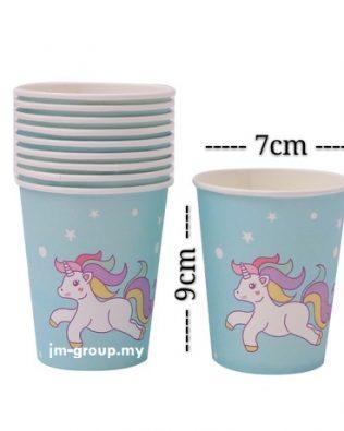 PAPER CUP UNICORN 10PCS