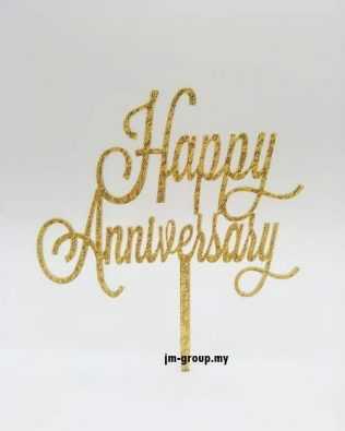 CAKE TOPPER ACRYLIC ANNIVERSARY