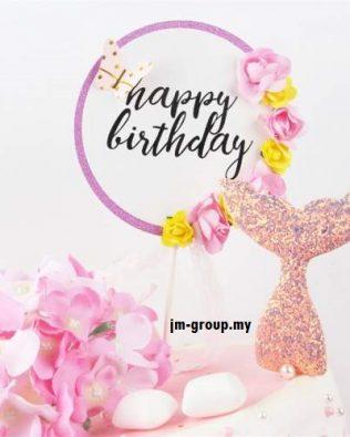 CAKE TOPPER HAPPY BIRTHDAY SPRING