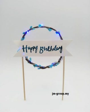 CAKE TOPPER WITH LIGHT