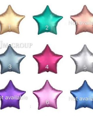 FOIL BALLOON CHROME STAR / LOVE