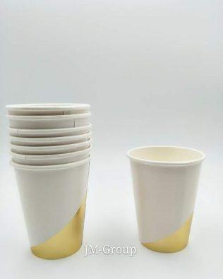 PAPER CUP GOLD LINE 8PCS