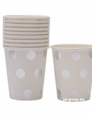 PAPER CUP POLKA DOT / STAR  10PCS