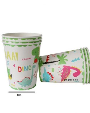 PAPER CUP UNICORN / MERMAID / DINO 6PCS