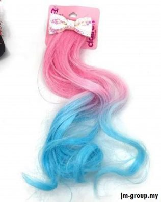 GLITTER CLIP WITH COLOUR HAIR