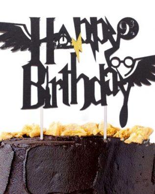 HARRY POTTER HAPPY BIRTHDAY CAKE TOPPER