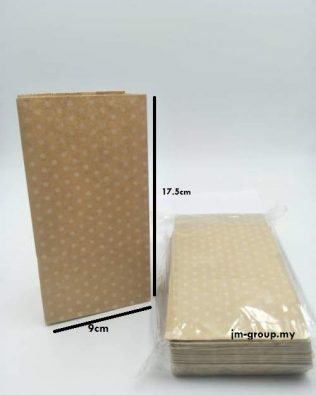WHITE DOT PAPER BAG (50PCS)