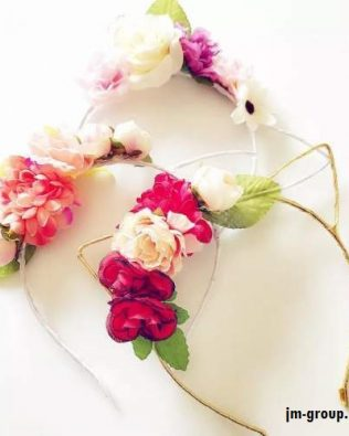 FLOWER CAT EAR HEADBAND
