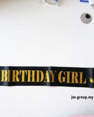 SASH BIRTHDAY GIRL GOLD GLITT