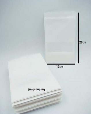 ZIP LOCK BAG WITH WINDOW 12X20CM (WHITE)