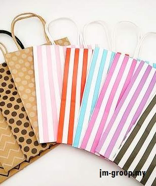 DESIGN PAPER BAG 12PCS ( Stripe / Polka Dot / Wave )