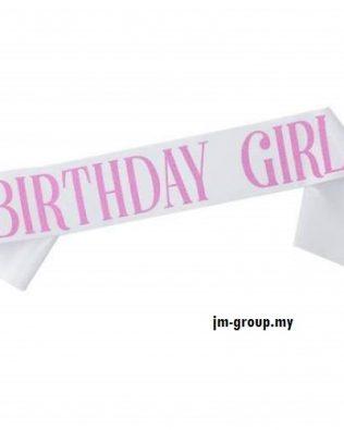 SASH BIRTHDAY GIRL GLITTER