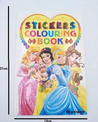 COLOURING STCIKER BOOK 12PCS