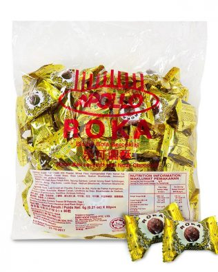 APOLLO ROKA PEANUT WAFER BALL 80PCS