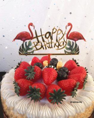 FLAMINGO ACYLIC CAKE TOPPER
