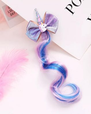 UNICORN CLIP WITH COLOUR HAIR