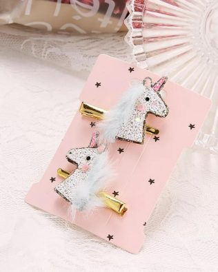 UNICORN HAIR CLIP 2PCS