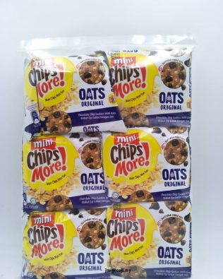 Mini Chipsmore Chocolate Chip Cookies With Oats 80g X 6 pack  ( Original / Double Chocolate )