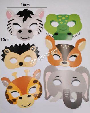 UNICORN / ANIMAL FACE MASK 12PCS