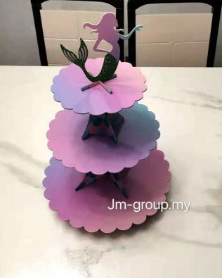3 TIER MERMAID CUP CAKE STAND